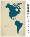 modern map   america complete... | Shutterstock .eps vector #312370781