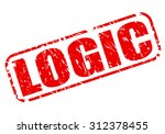 logic red stamp text on white | Shutterstock .eps vector #312378455