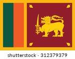 flag of sri lankal. vector... | Shutterstock .eps vector #312379379