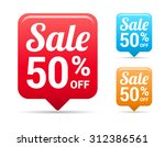 sale 50  off tags | Shutterstock .eps vector #312386561