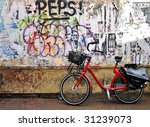 Urban Graffiti And Bike In A...