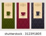 vector set of templates... | Shutterstock .eps vector #312391805