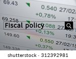 fiscal policy written in search ... | Shutterstock . vector #312392981