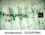 fiscal policy written in search ... | Shutterstock . vector #312392984