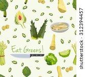 various vegetables icons set...   Shutterstock .eps vector #312394457