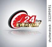 twenty four hour everyday.... | Shutterstock .eps vector #312395951