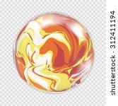 transparent light bulb sphere... | Shutterstock .eps vector #312411194