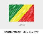a scribbled flag illustration... | Shutterstock .eps vector #312412799