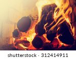 Fire In A Fireplace   Selectiv...