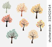 vector tree set | Shutterstock .eps vector #312422414