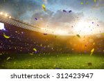 evening stadium arena soccer... | Shutterstock . vector #312423947
