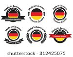 made in germany logo  label or... | Shutterstock .eps vector #312425075