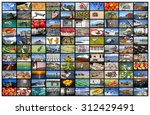 a variety of images as a big... | Shutterstock . vector #312429491
