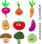 cute vegetable cartoon | Shutterstock . vector #312430829