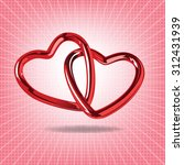 red valentines background with... | Shutterstock .eps vector #312431939