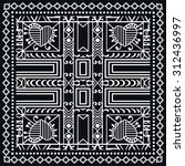 bandana print  silk neck scarf... | Shutterstock .eps vector #312436997