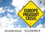 europe migrant crisis sign with ...   Shutterstock . vector #312464819