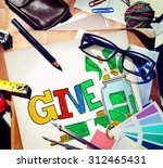 give help donation charity... | Shutterstock . vector #312465431
