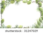 larch frame on white background | Shutterstock . vector #31247029