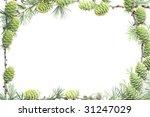 larch frame on white background | Shutterstock . vector #31247029