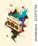 abstract illustration with... | Shutterstock .eps vector #312471704