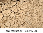 Natural pattern cracked mud. - stock photo