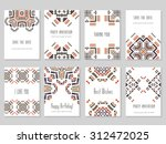 vector set of card templates in ... | Shutterstock .eps vector #312472025