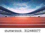 Empty Athletics Stadium With...
