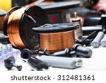 closeup of crossover speaker... | Shutterstock . vector #312481361