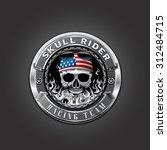 skull logo badge metal | Shutterstock .eps vector #312484715