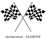 wavy checkered flags | Shutterstock .eps vector #31248709