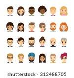 set of diverse avatars.... | Shutterstock . vector #312488705
