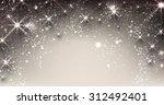elegant starry christmas banner ... | Shutterstock .eps vector #312492401