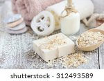 Handmade Soap With Oatmeal And...