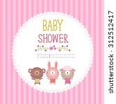 illustration of baby shower... | Shutterstock .eps vector #312512417