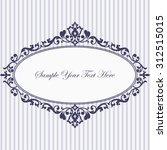 decorative vintage frame.... | Shutterstock .eps vector #312515015
