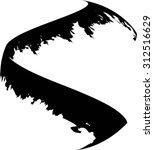 vector grunge paint brush .... | Shutterstock .eps vector #312516629