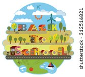 back to school sticker.... | Shutterstock .eps vector #312516821