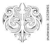 maori tribal design | Shutterstock .eps vector #312528401