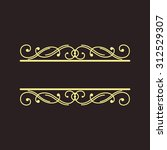 art deco geometric outline... | Shutterstock . vector #312529307