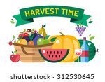 Harvest Time Vector...
