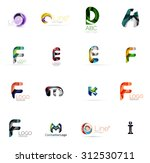 set of new universal company... | Shutterstock .eps vector #312530711