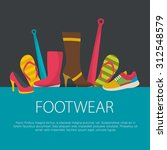 flat design footwear concept....   Shutterstock .eps vector #312548579