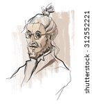 portrait of man. vector...   Shutterstock .eps vector #312552221