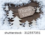 brown christmas label with... | Shutterstock . vector #312557351