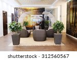 the interior of the hotel lobby   Shutterstock . vector #312560567