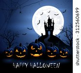 halloween night background with ... | Shutterstock .eps vector #312560699