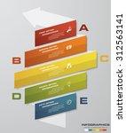 5 steps process. simple... | Shutterstock .eps vector #312563141