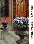 Elegant Garden Urn With Purple...