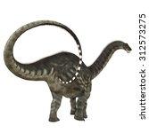 Постер, плакат: Apatosaurus Dinosaur Tail